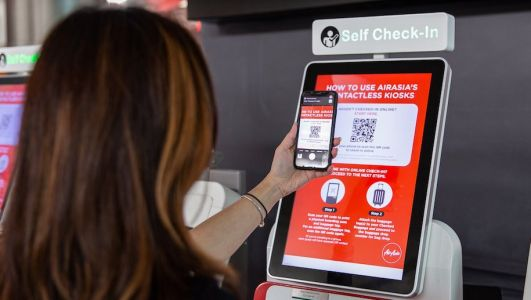 Air Asia introduces contactless services at airports