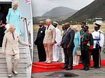 Prince Charles and the Duchess of Cornwall arrive in St Kitts and Nevis
