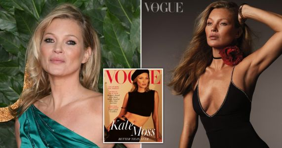Kate Moss continues style queen reign on British Vogue cover, 28 years after her debut