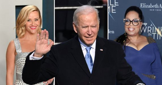 Oprah Winfrey and Reese Witherspoon lead stars celebrating Joe Biden's inauguration