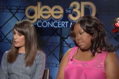 Amber Riley looks very uncomfortable in joint interview with Lea Michele