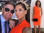 Kyly Clarke wears a glittering crown with cricketer husband Michael at TheEverest races