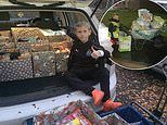 Boy, eight, spends two WEEKS collecting goods to donate to food banks