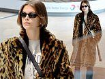 Kaia Gerber rocks a fierce travel look as she arrives in city of love following Pete Davidson split