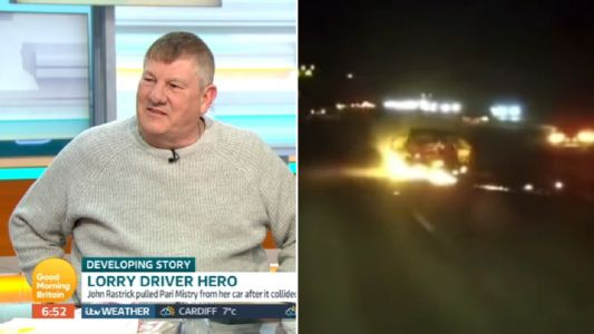 Heroic lorry driver who saved woman from burning car 'gave her another chance at life'