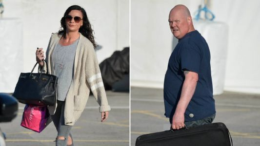 Emmerdale's Lucy Pargeter and Dominic Brunt get back to work during lockdown