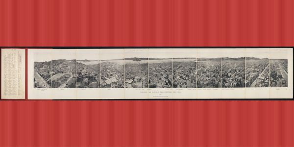 A vintage panorama of San Francisco in 1877 gives a rare look at the city before it was destroyed by an earthquake. The photos sold for $14,000