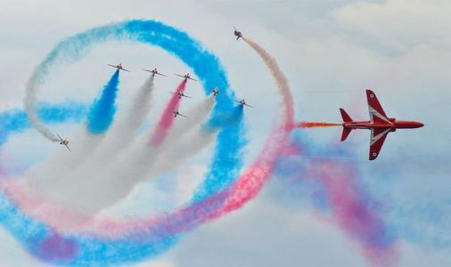 Red Arrows flypast route MAPPED: Where will Red Arrows fly today?