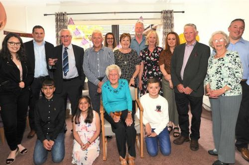 Motherwell RAF veteran given lifelong service award to mark her 100th birthday