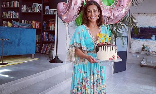 Saira Khan shows off her stunning 'tropical' living room in new workout video