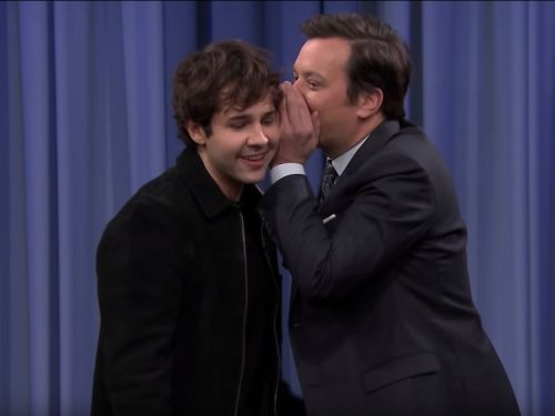 David Dobrik had to mime 'Hustlers' in a game of charades with Jimmy Fallon, but he didn't know it was about strippers