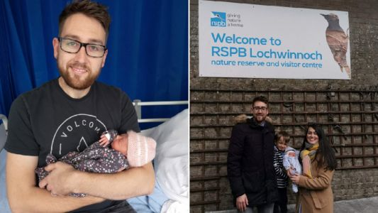 Dad forced to deliver baby girl in the car park of a nature reserve