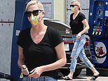 Charlize Theron keeps it casual as she makes quick stop at a gas station in Los Angeles