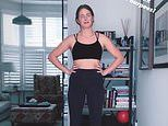 Millie Mackintosh sports a black crop top for gruelling work out