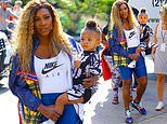 Serena Williams stuns at Nike's Queens of the Future event with her mini-me daughter Olympia
