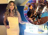 Love Island's Shaughna celebrates her BFF Paige and Finley's win during a boozy final party