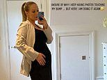 Pregnant Kate Ferdinand is unsure why she keeps touching her baby bump