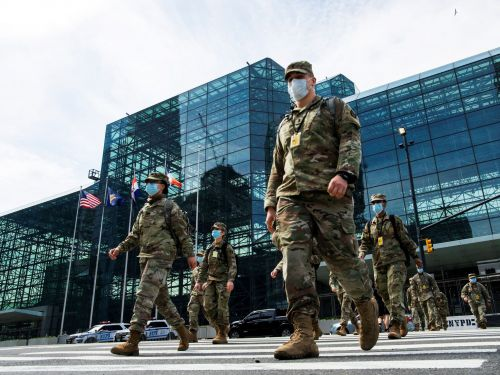 The New York National Guard is assisting in the removal of bodies from homes, and is reportedly using Enterprise rental vans to do it