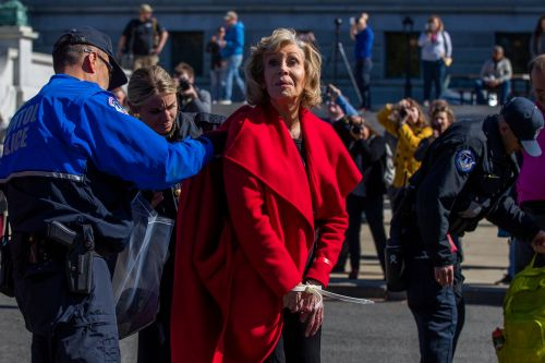 Jane Fonda is arrested for the second time in Washington DC in climate change protest