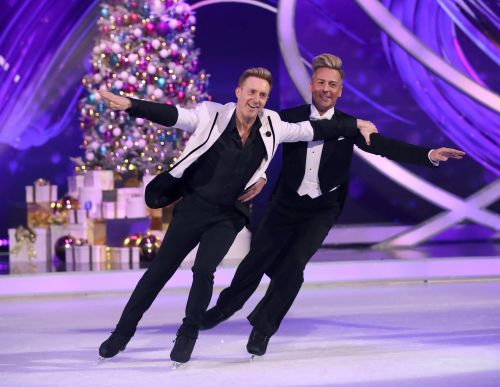 Dancing On Ice's first same-sex couple Ian 'H' Watkins and Matt Evers can't do lifts for 'anatomical' reasons'