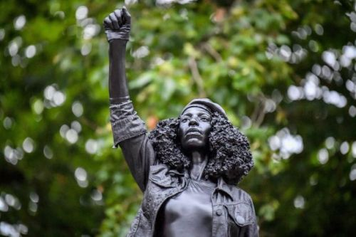 Edward Colston Statue Replaced By Sculpture Of Black Lives Matter Protester