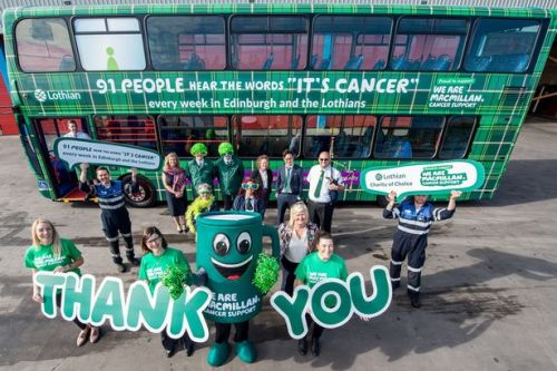 Macmillan Cancer Support receive funding boost from Lothian buses