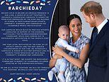 Happy birthday Archie! Prince Harry and Meghan Markle fans launch campaign to celebrate their son
