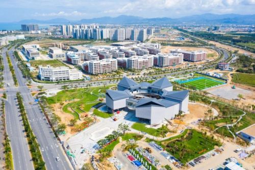 Construction progress at Sanya's two industrial parks