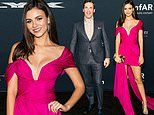 Victoria Justice and Jon Hamm shine in the fashion department at amfAR charity poker event in SF