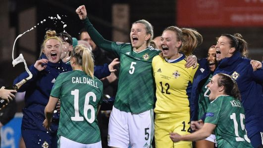Who will Northern Ireland play in Women's Euro 2022 play-offs and when are they set to take place?