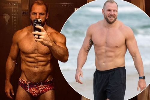 James Haskell shows off post-jungle body in budgie smugglers after I'm A Celeb diet