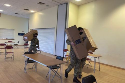 Army spotted setting up Hamilton vaccination centre in Covid battle
