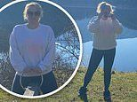 Rebel Wilson poses on a see-saw while shedding final four pounds at a luxury Austrian spa