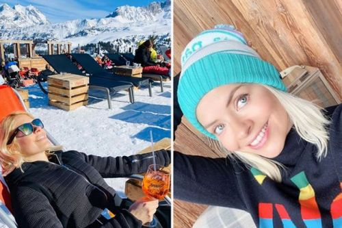 Holly Willoughby shares pictures from boozy half-term ski holiday and incredible video of son Chester on the slopes