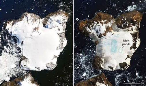 Antarctica shock: Before and After pics show horror of ice melt after record-breaking heat
