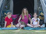 ANTONIA HOYLE and family find you really can enjoy the flap of luxury while camping