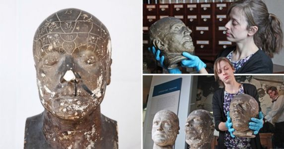 Victorian death masks hidden in hospital were made from heads of executed criminals