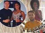 Coronation Street's Alan Halsall looks worried as girlfriend Tisha Merry cuts his hair after drinking a bottle of wine
