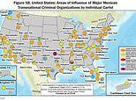 How NINE Mexican cartels are responsible for flooding the streets of the United States with drugs