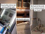 Horrified woman discovers 'cameras and a two-way mirror' hidden in the wall of her new home