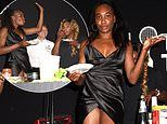 Venus Williams suffers awkward wardrobe malfunction at tennis event with sister Serena Williams