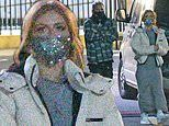 Strictly's Maisie Smith rocks glittery face mask at It Takes Two filming with pro Gorka Marquez