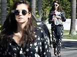 Nina Dobrev drapes fab figure in stylish starry jumpsuit as she steps out for some exercise in LA