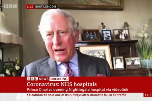 Royal fans baffled after spotting 'odd' framed photo behind Charles in new video