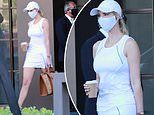 Ivanka Trump puts on a sporty show in tennis whites as she leaves her Miami apartment