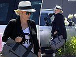 Radio star Fifi Box takes her young daughters out for lunch before going car shopping
