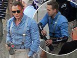 James Bond star Daniel Craig watches on as body double gears up to perform daredevil stunt