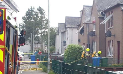 VIDEO: One casualty rescued after fire breaks out in Inverness garden