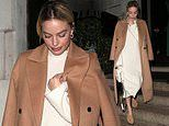 Margot Robbie enjoys night out in London ahead of the Oscars