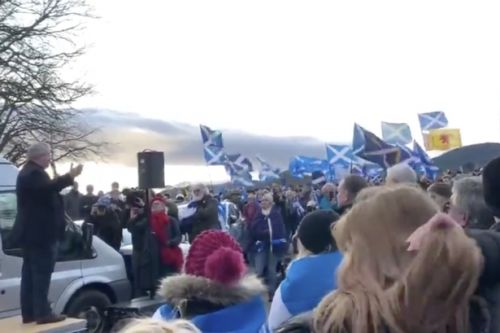 SNP's Ian Blackford tells Freedom March 'we have IndyRef2 mandate in back pocket'